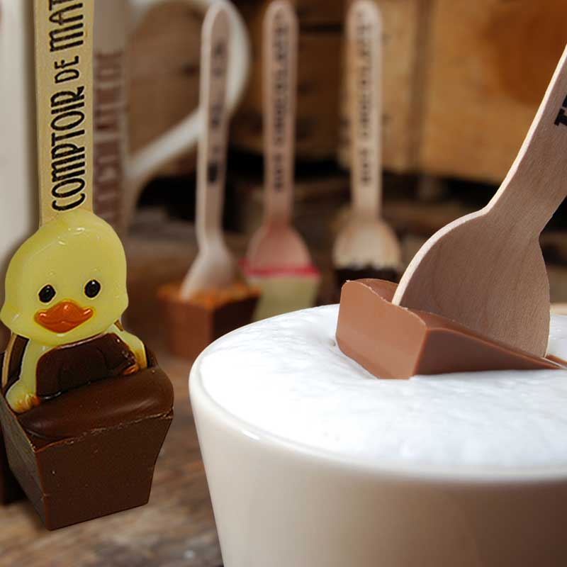 Easter Chocolate Milk Spoon