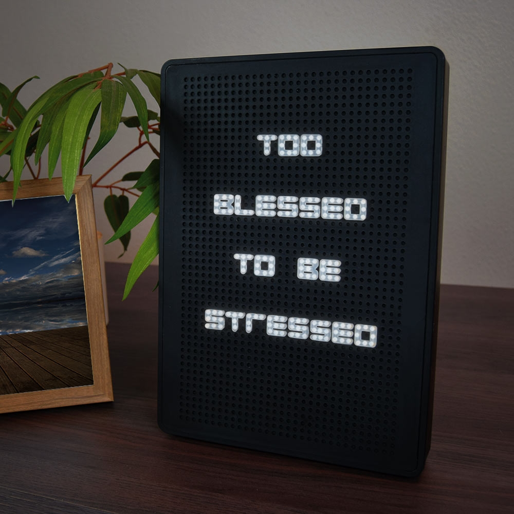 Letterbord LED - incl. 200 tekens