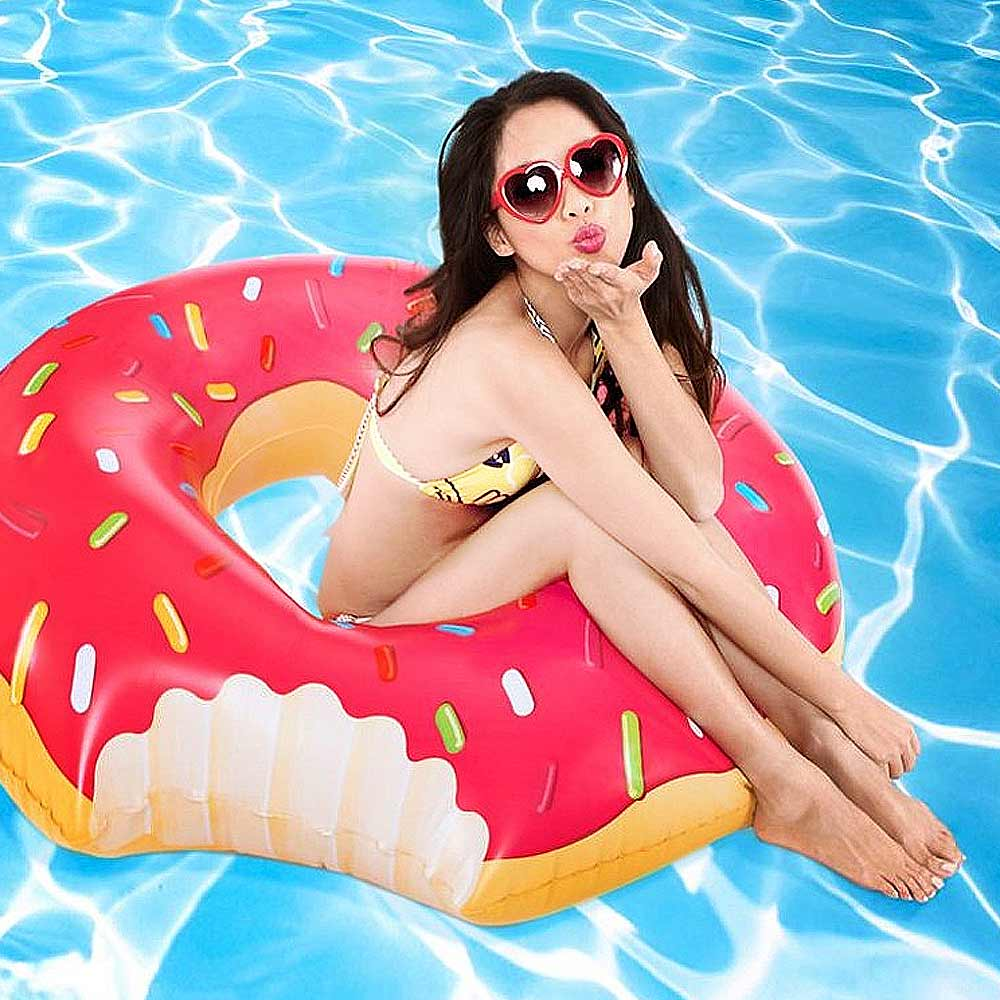 Opblaasbare Donut Zwemband | Megagadgets