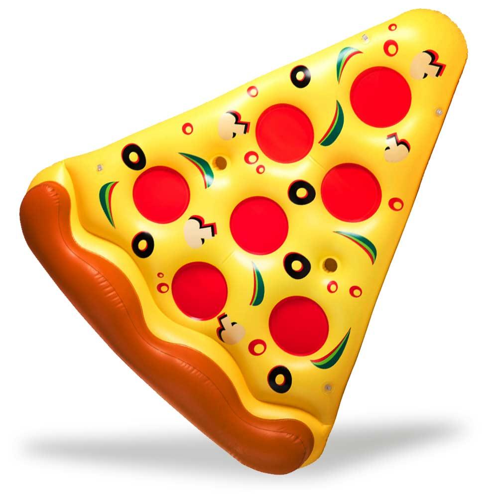 Opblaasbare Pizza slice voor ontspanning langs het zwembad