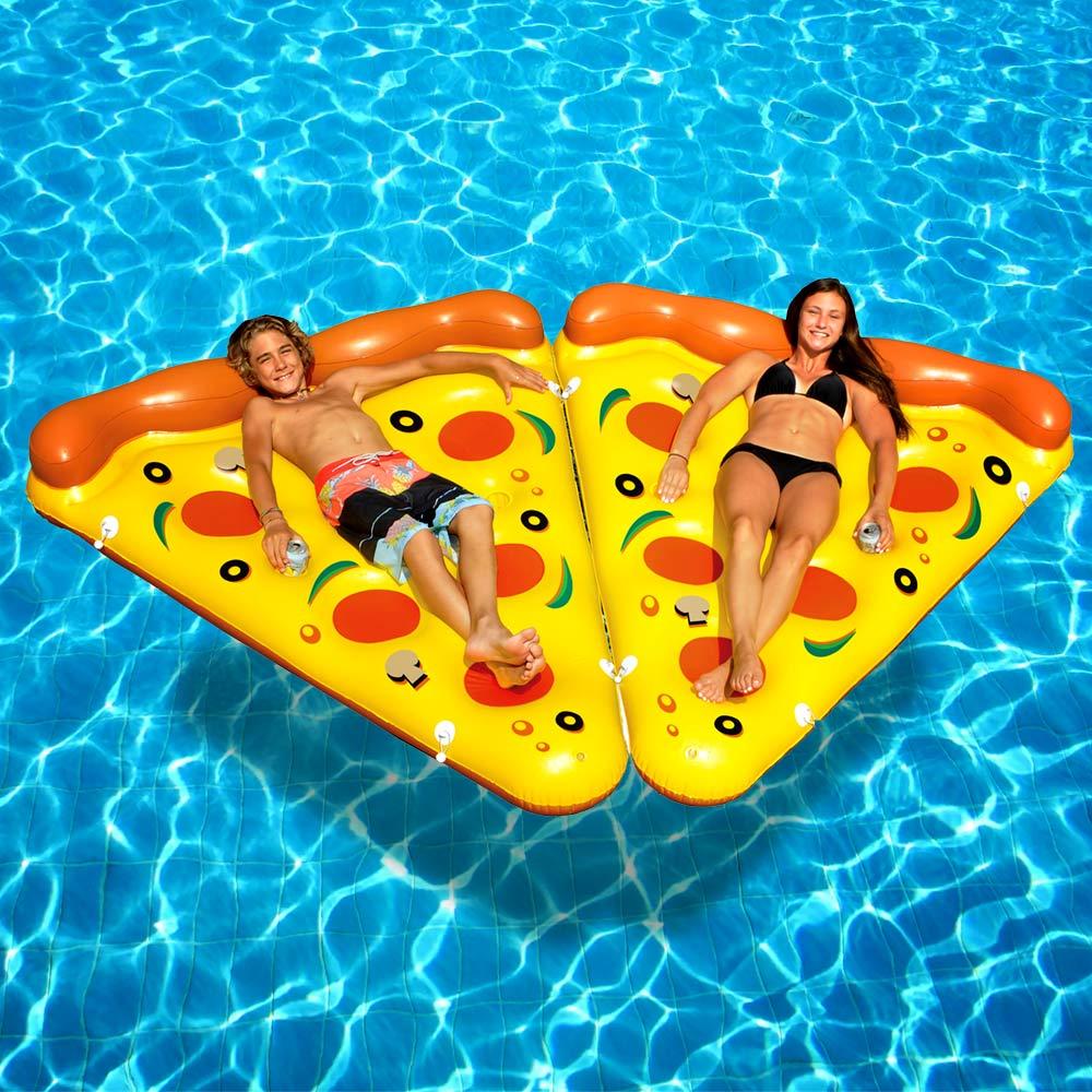 Dagaanbieding - Opblaasbaar Pizza Luchtbed - 1.65m - Original dagelijkse aanbiedingen