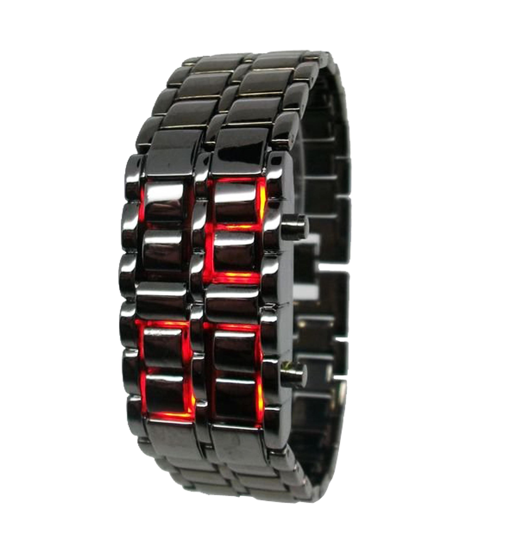 Iron Samurai Watch-Zwart/Rood