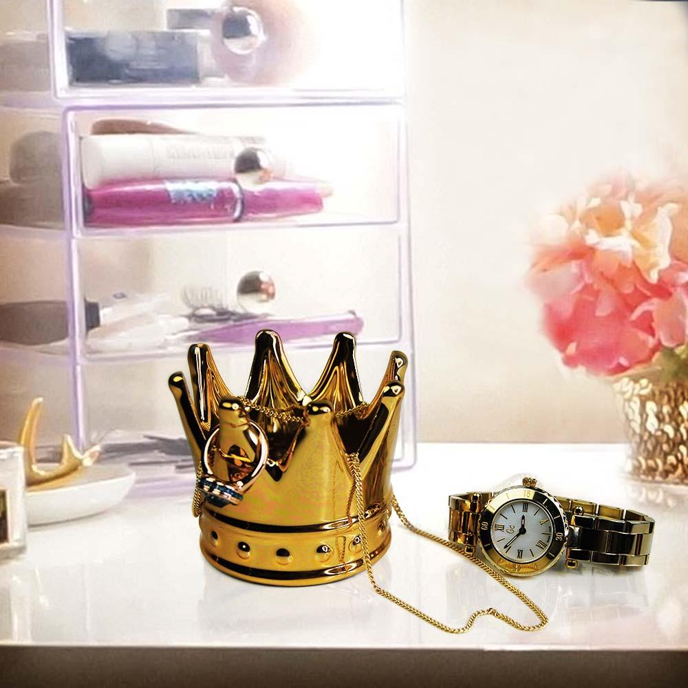 Gouden kroon ringhouder | MegaGadgets