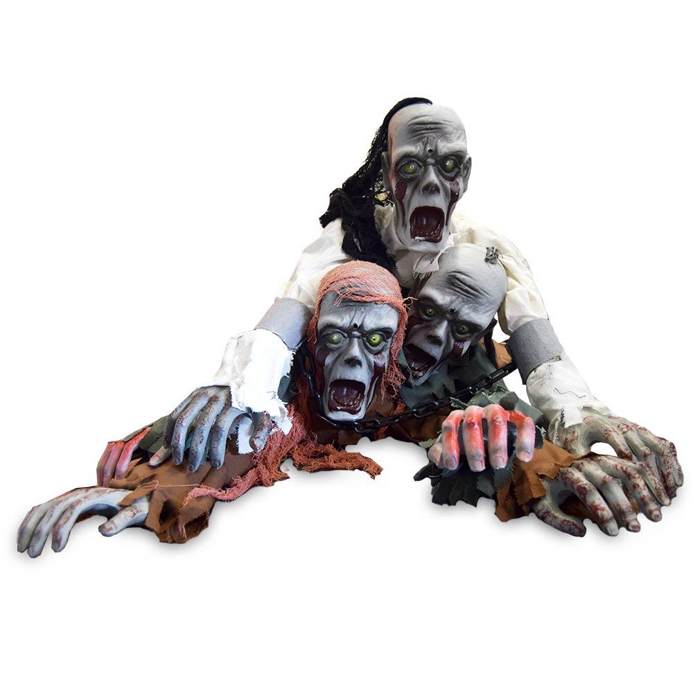 Jaag iedereen de stuipen op het lijf met deze Kruipende Halloween Zombie!