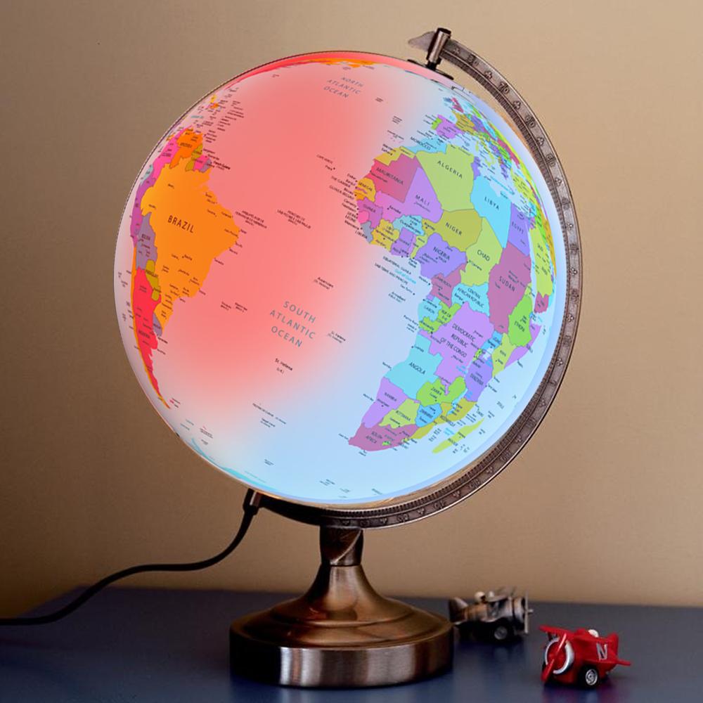 Wereldbol met LED licht