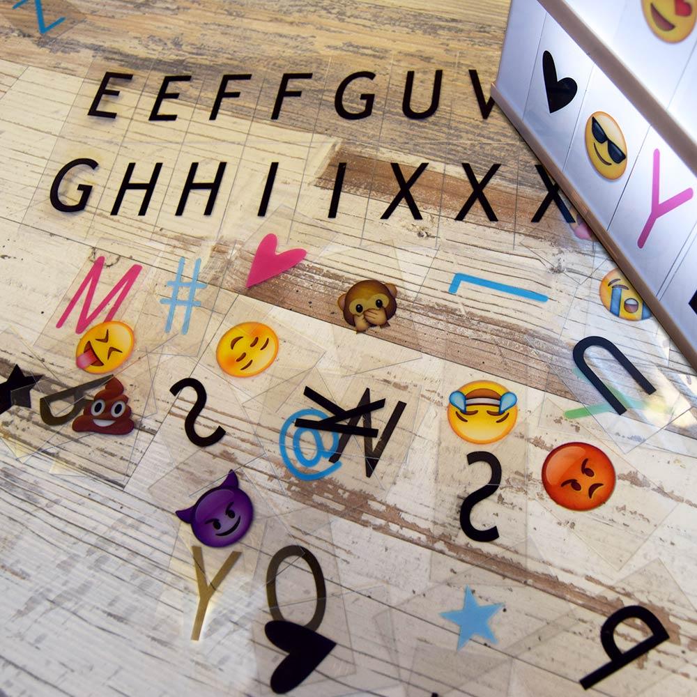 Dagaanbieding - Lightbox letters - 85 stuks dagelijkse aanbiedingen