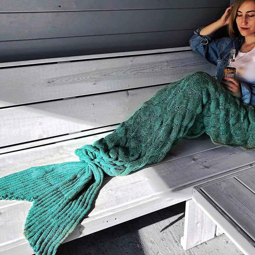 Zeemeermin Deken - Mermaid Blanket - 1.95m - Pink