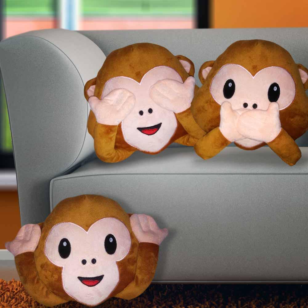 Emoji kussen monkey | megagadgets