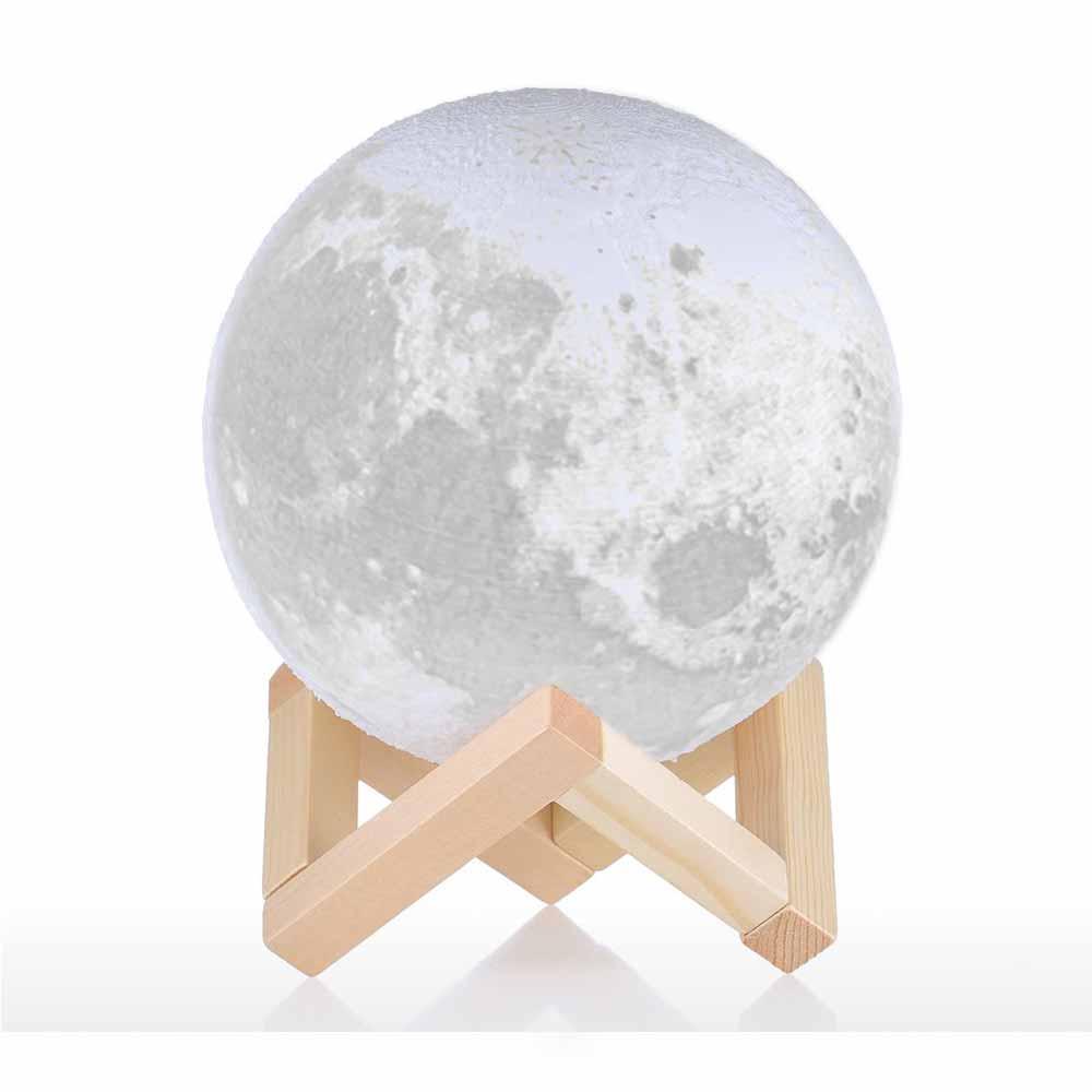 Realistische Maanlamp met verschillende standen in helderheid en daarmee een perfect nachtlampje!