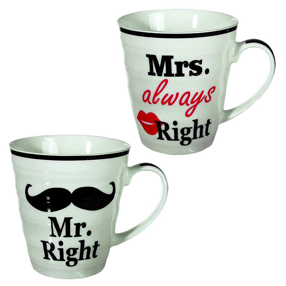 Mr. Mrs. Right mokken, mokken met Mrs. & Mrs. Right erop