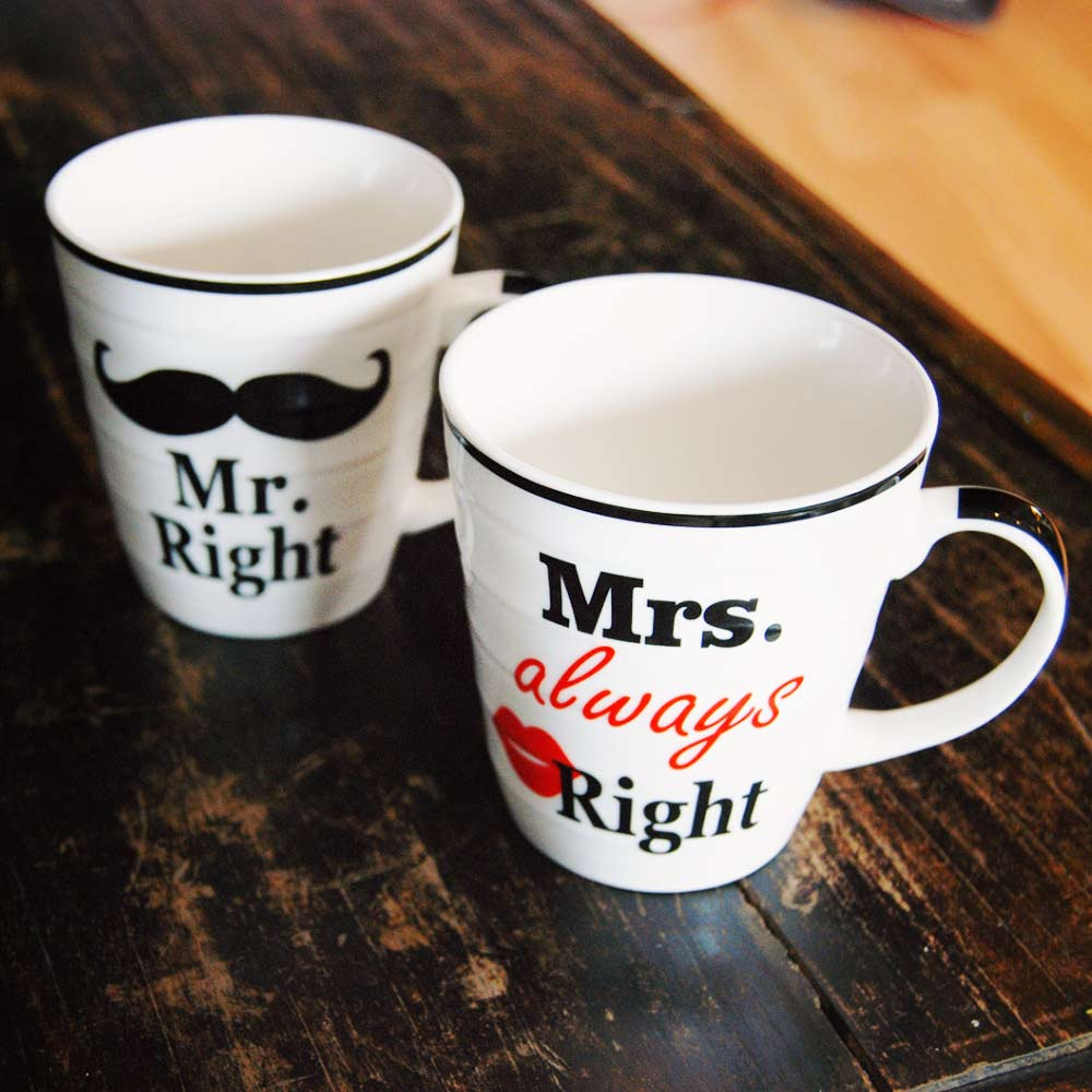 Mr. Right & Mrs. Always Right mokken | MegaGadgets