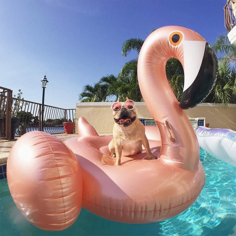 Dagaanbieding - Opblaasbare Flamingo 1.85m - Rosé Gold dagelijkse aanbiedingen