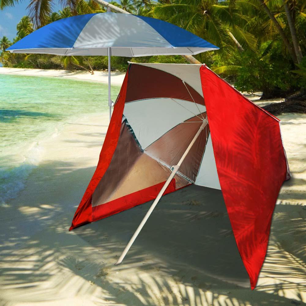 Strandparasol – Met Windscherm | MegaGadgets