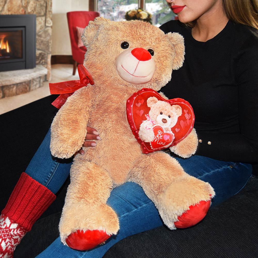 Teddybeer met Hartje – 72 cm | MegaGadgets