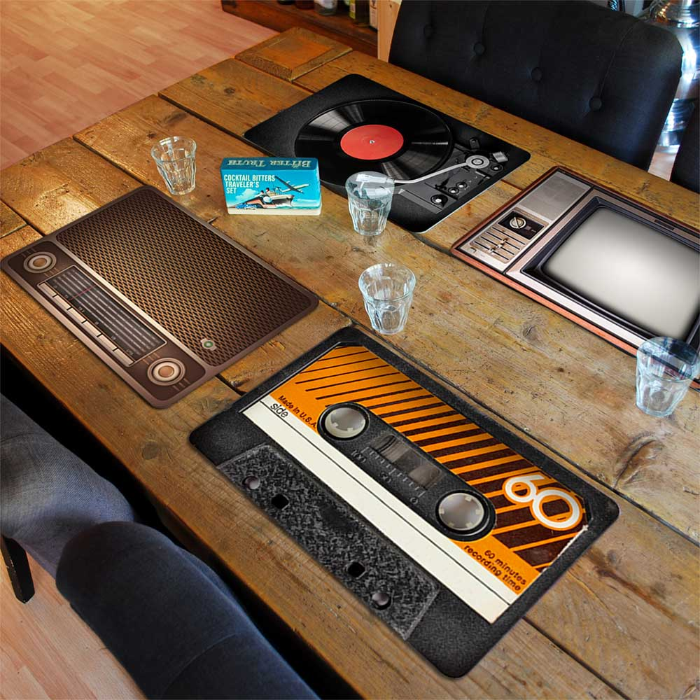 Retro Placemats 4st, gaaf design en van goede kwaliteit!
