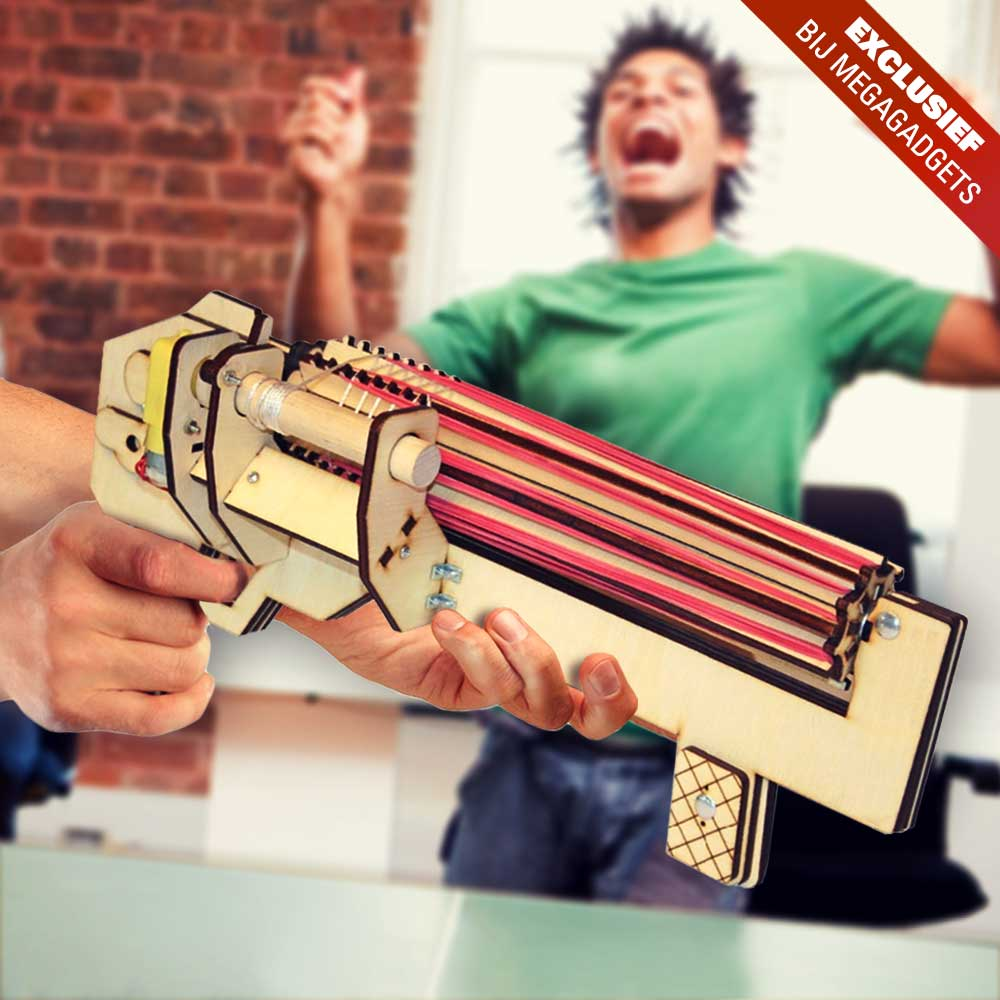 Rubber Band Gatling Gun | MegaGadgets