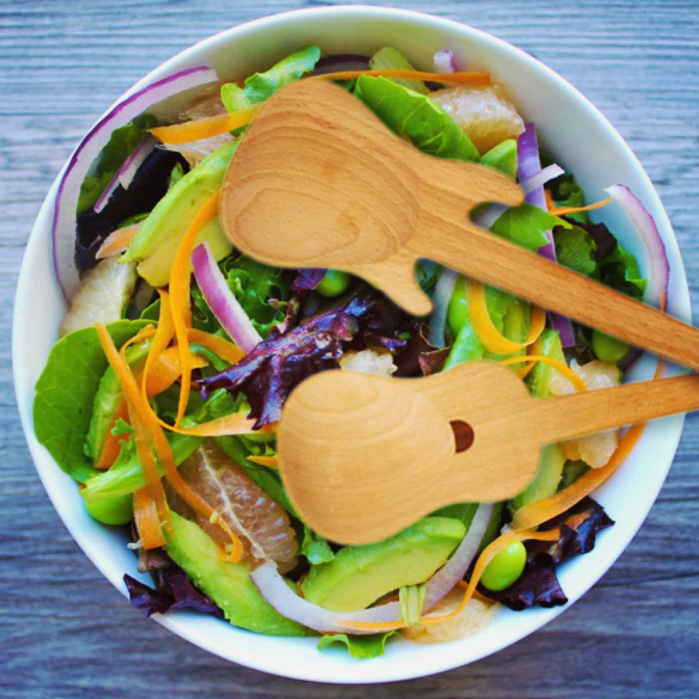 Guitar Salad Servers