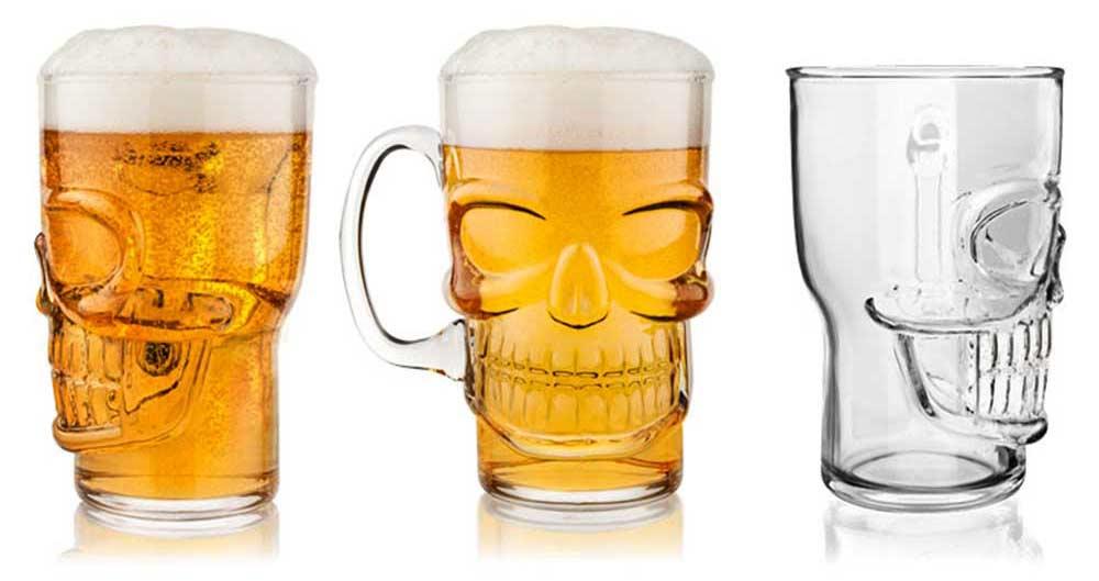 Doodshoofd glas, voor alle bierdrinkers onder ons!