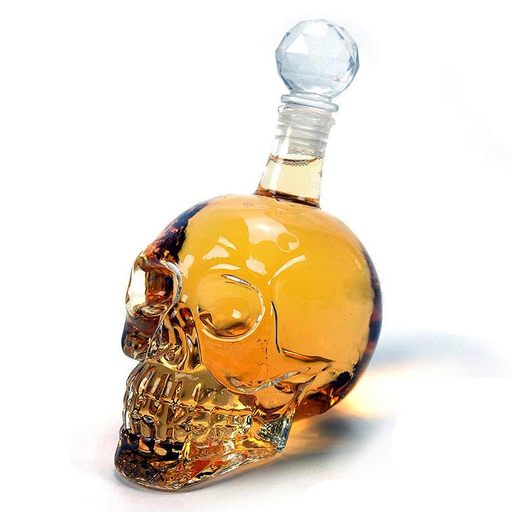 Skull Bottle 1 liter, bewaar je drank is deze unieke fles