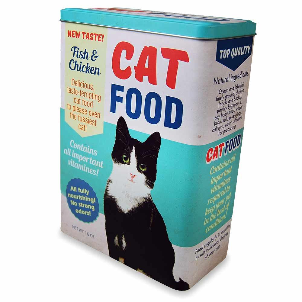 Retro brokjesblik, leuke retro container voor honden of kattenvoer