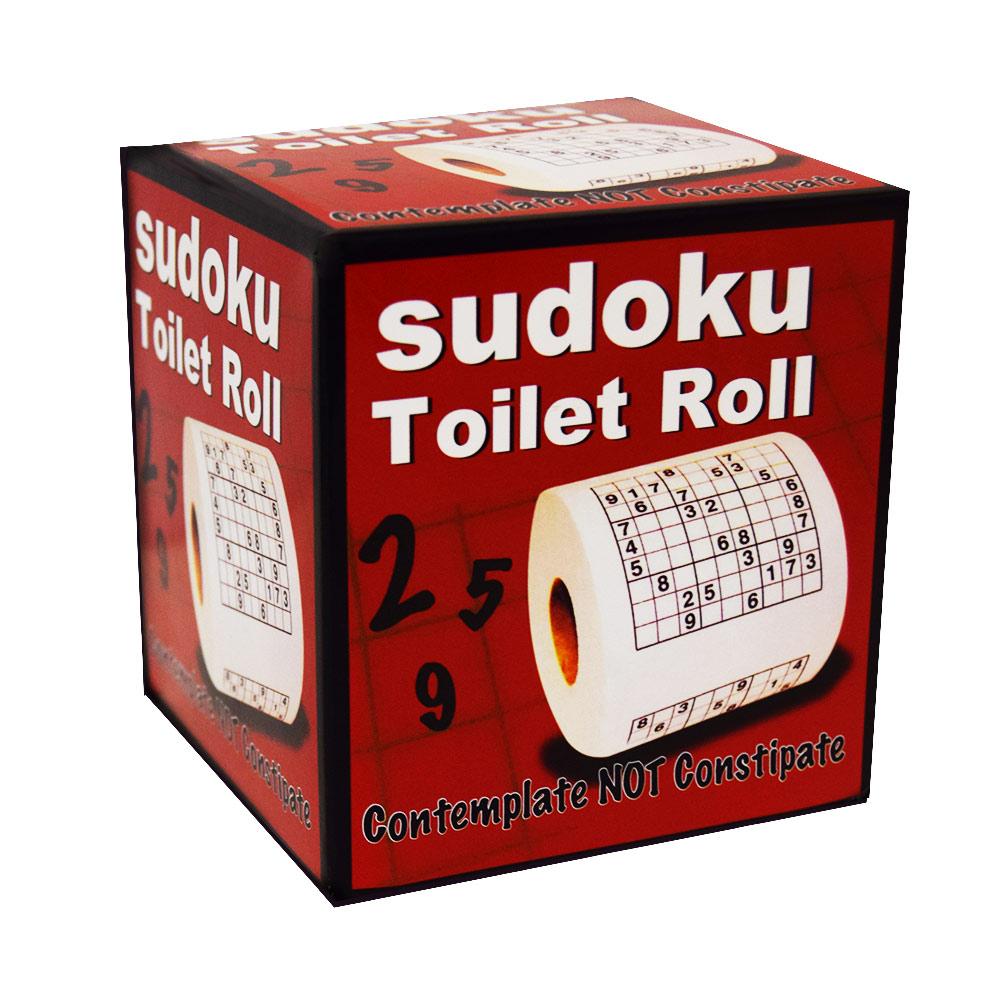 Met dit Sudoku Toiletpapier verveel je je nooit meer op het toilet!