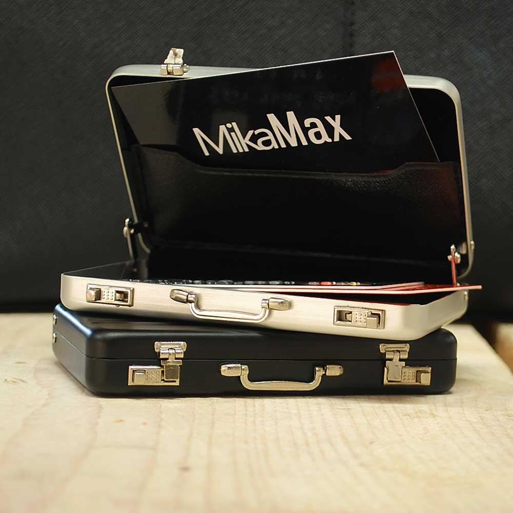 Mini koffer pasjeshouder - Roze