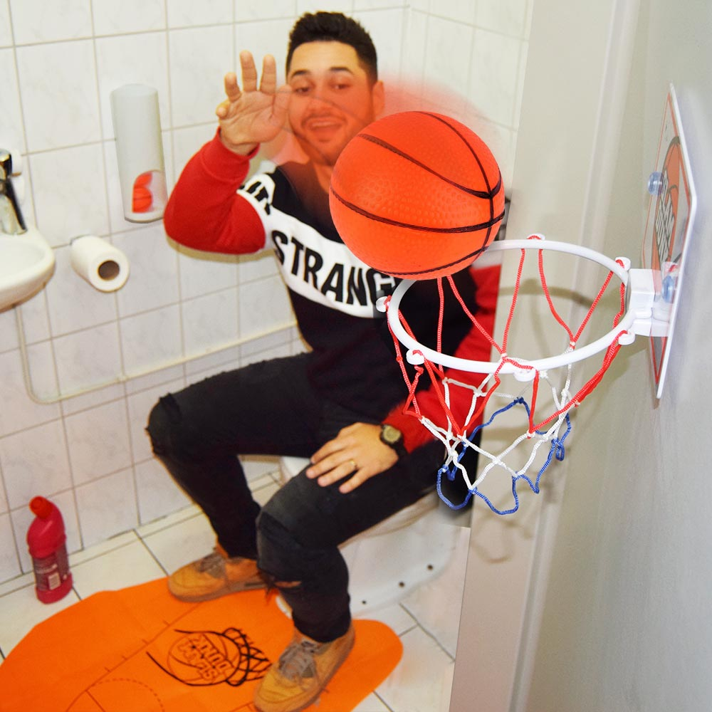 Toilet Basketball Set