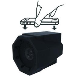 De Boombox Touchspeaker is een stoere, draagbare speaker. Goed voor elk feestje!