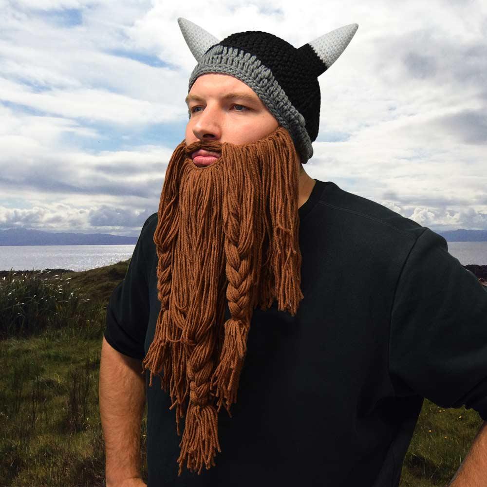 Dagaanbieding - Viking Muts Met Baard dagelijkse aanbiedingen