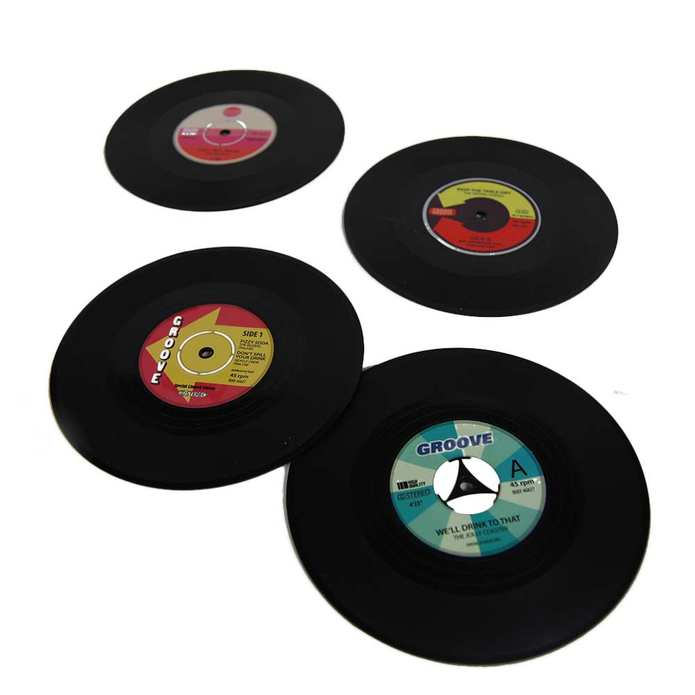 Vinyl Siliconen Onderzetters, retro onderzetters voor de muziekliefhebber
