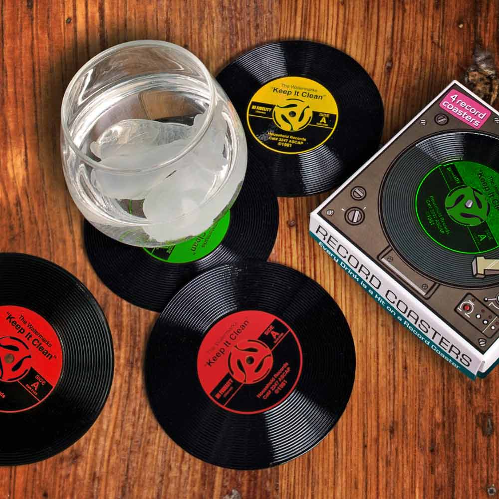 Vinyl Siliconen onderzetters | Megagadgets