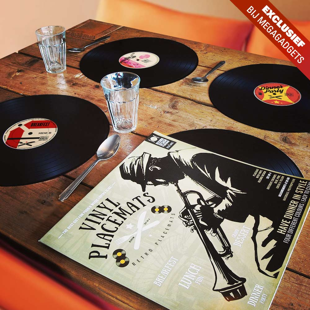 Vinyl Placemats 4st | Megagadgets.nl