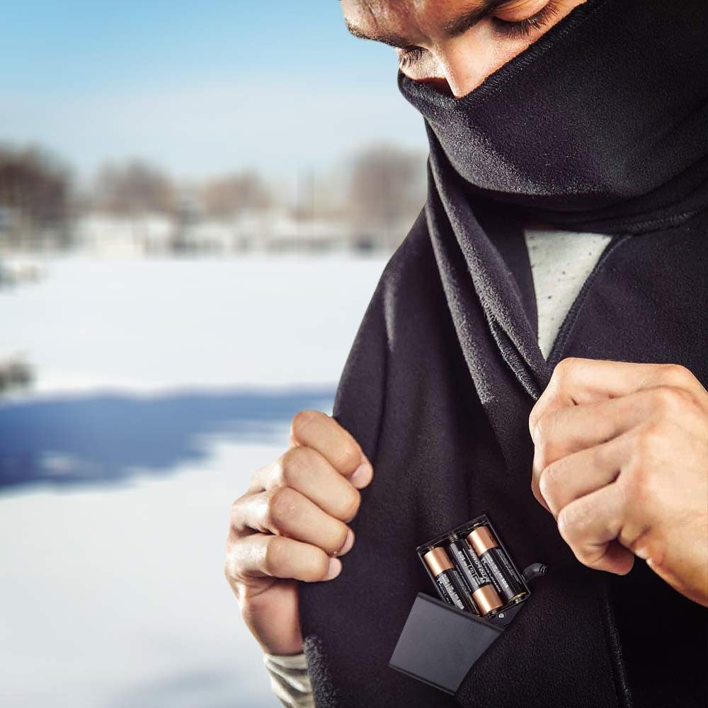 Verwarmde Sjaal - Zwart