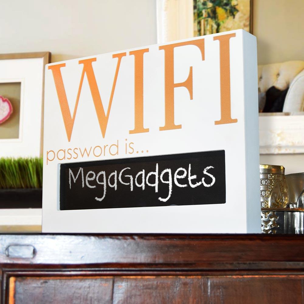 Wifi Bordje met Wachtwoord | MegaGadgets