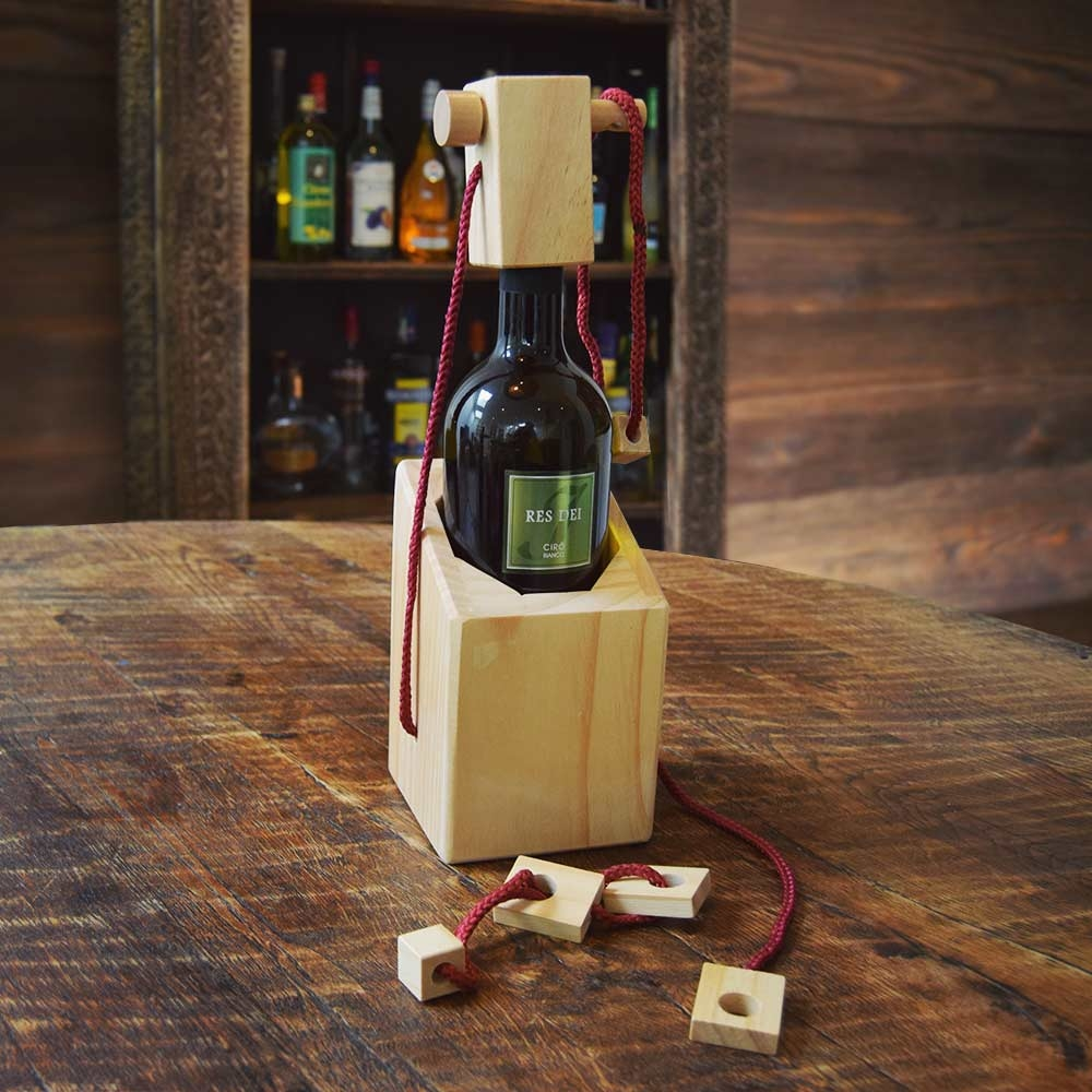 Wijnfles puzzelhouder
