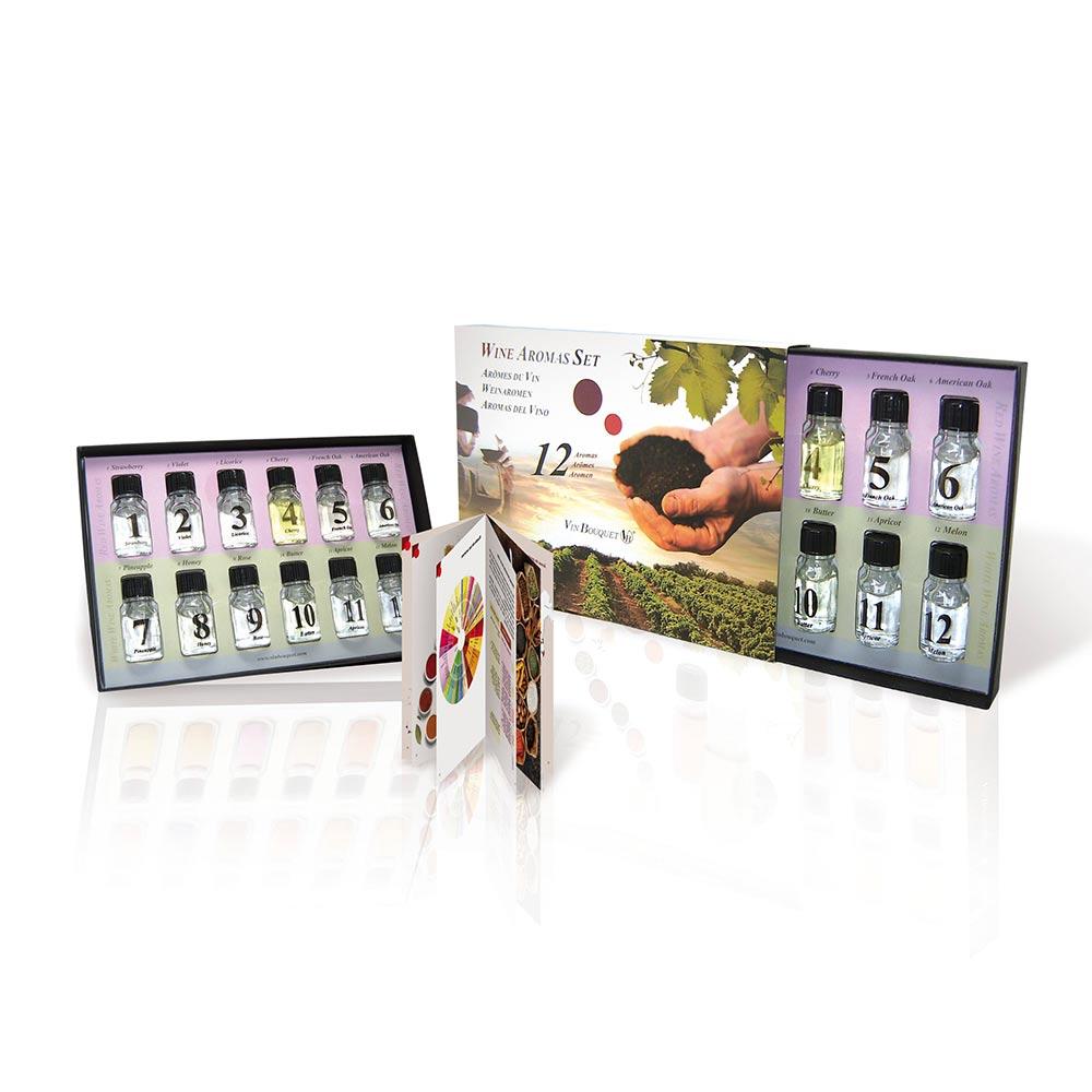 Test nu je sommelier skills met deze mooie Wijn Aroma Set.