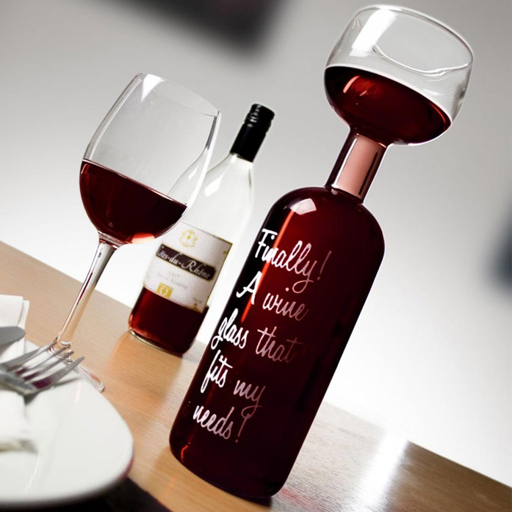 Wijnfles Glas | MegaGadgets