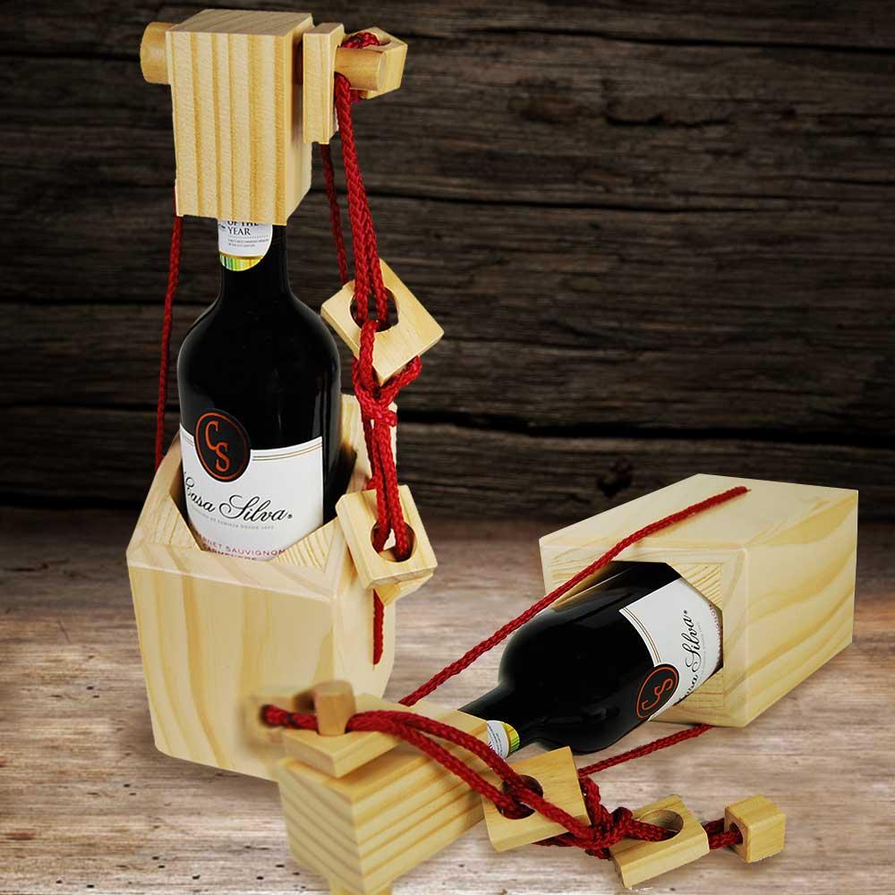 Wijnfles puzzelhouder | MegaGadgets