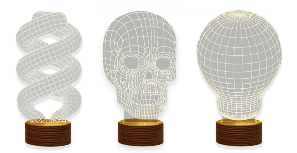 Haal de 3D Illusie Lamp Hout in huis voor een echte eyecatcher!