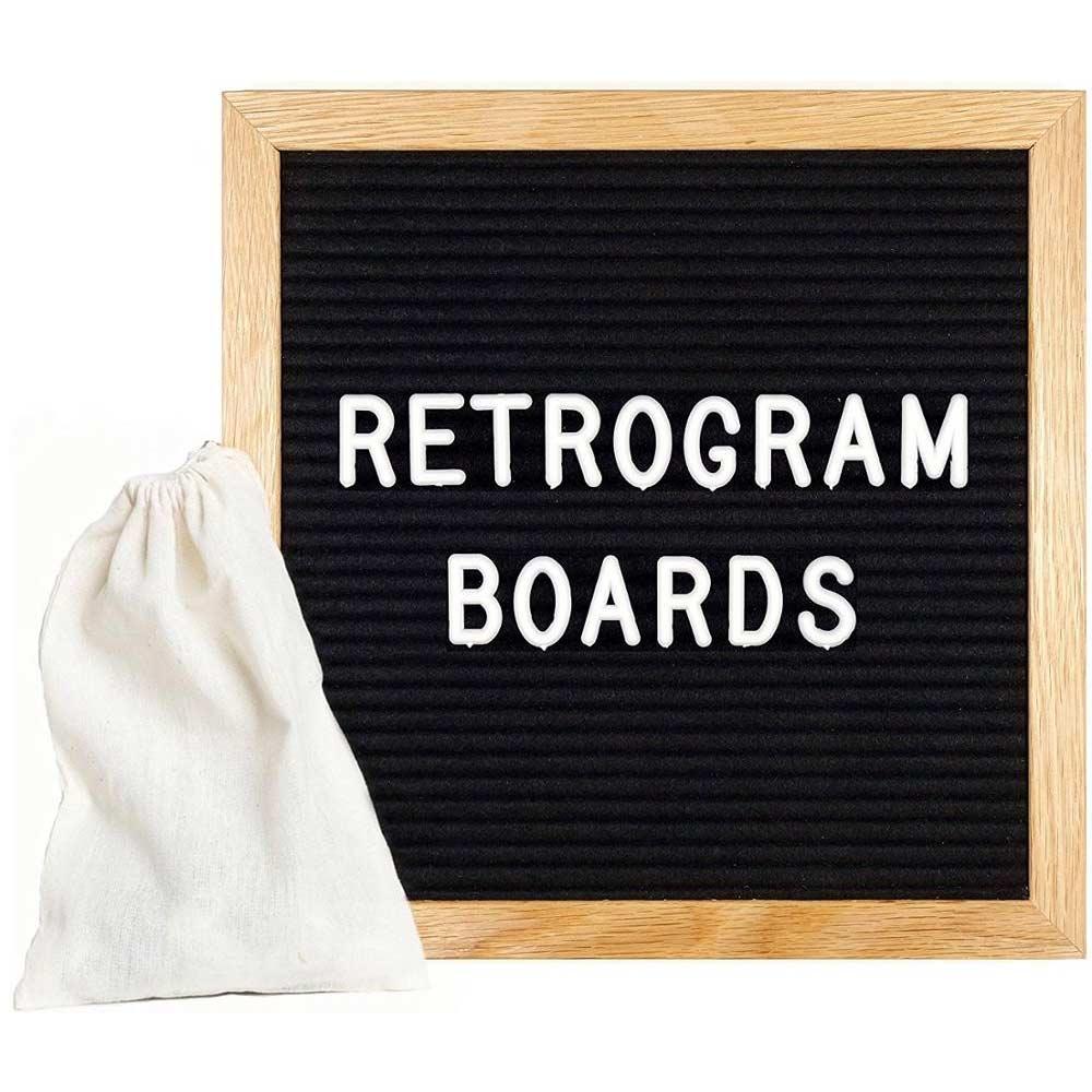 Vintage Letterbord - Vilt staat stoer en retro op jouw kast!