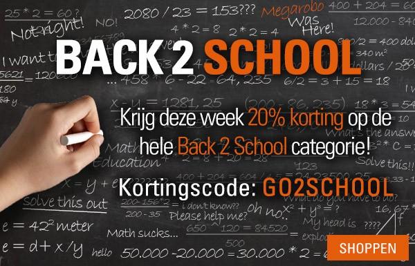 20% korting op alle producten uit de Back2School categorie