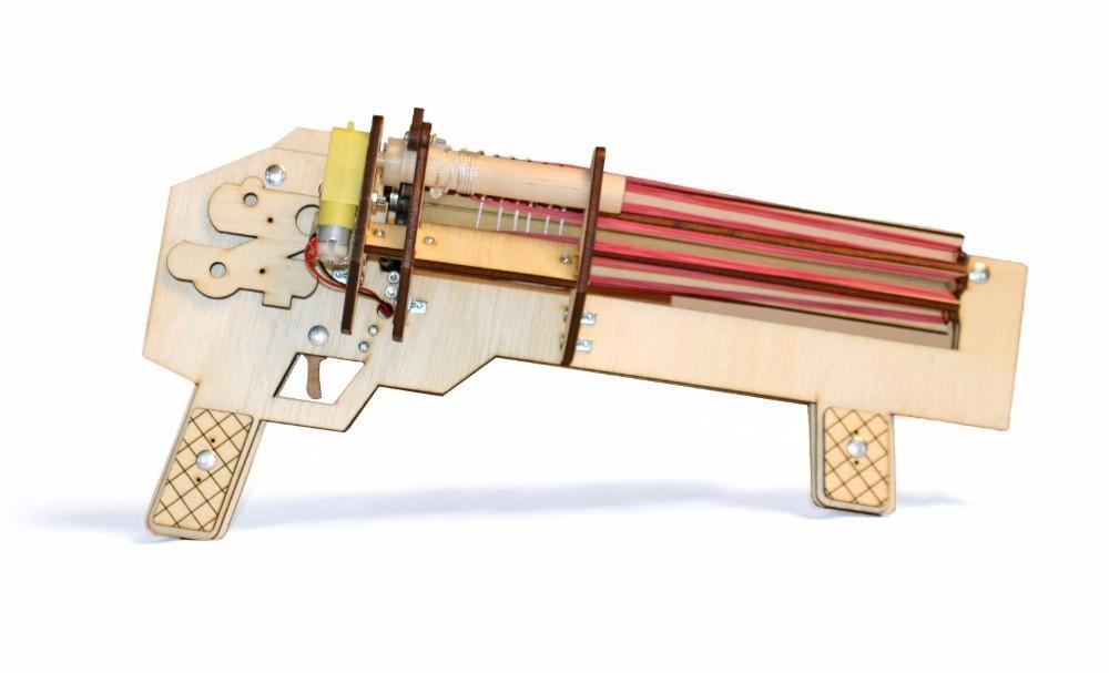 ubberband machine gun, het leukste elastiek geweer
