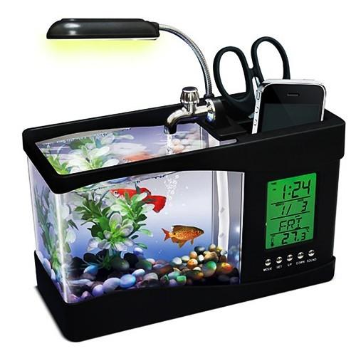 USB Desktop Aquarium een vis op kantoor op je bureau