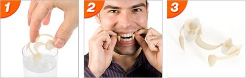 Vampier tanden intrekbaar voor halloween en andere verkleedfeesten