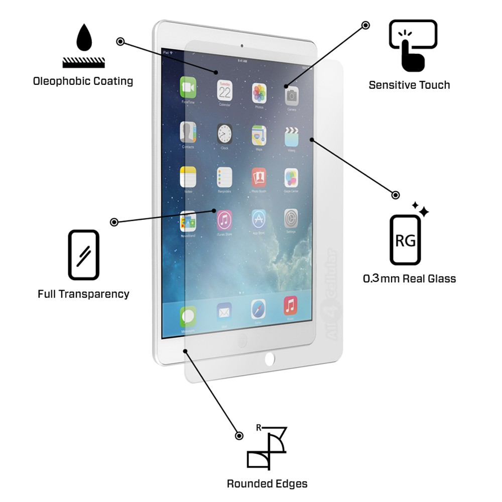 Tempered Glass Screen Protector - iPad