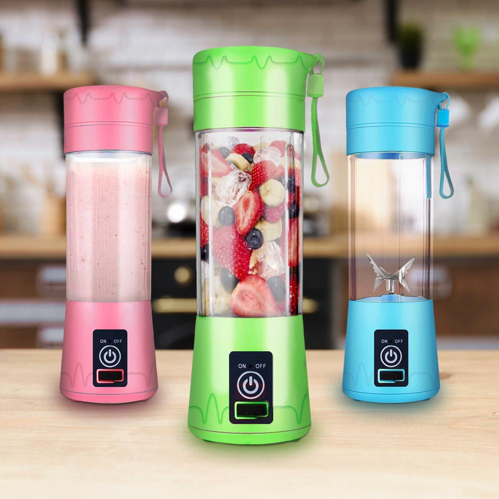 Blender To Go - Draagbare Fruit blender - Blauw