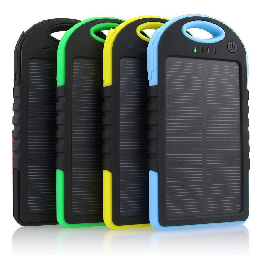 Solar Charger Telefoon Oplader Geel