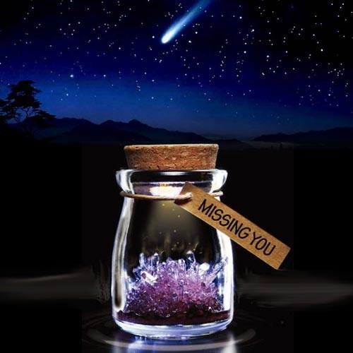 Crystal Wish Jar - Rood